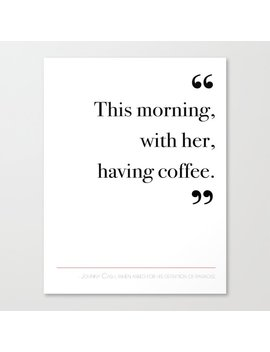 With Her, Having Coffee Canvas Print by