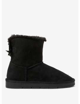 Black Microfibre 'Molly' Boots by Dorothy Perkins