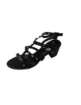 Kaitlyn Pan Studded Block Heel Open Toe Sandal by Kaitlyn Pan