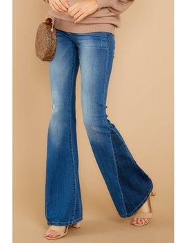 Simple At It's Best Two Tone Flare Jeans by Sneak Peek