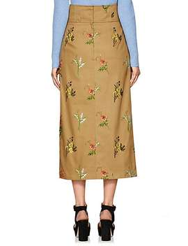 Embroidered Cotton Midi Skirt by Tomorrowland