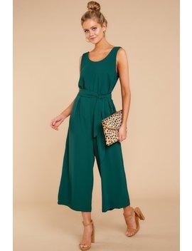 Make The Effort Hunter Green Jumpsuit by Ces Femme