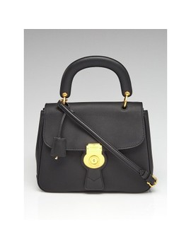 Black Trench Leather Dk88 Top Handle Bag by Burberry