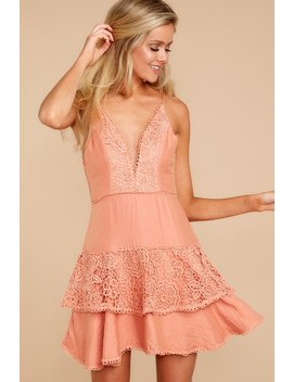 This Is For Them Apricot Lace Dress by One And Only Collective