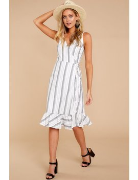 Pure State Of Mind Grey Stripe Dress by Etophe Studios