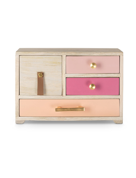 Lola Four Drawer Wooden Jewellery Box by Olivar Bonas