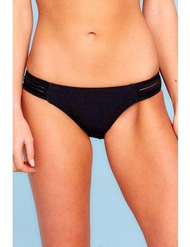 Meet Me At The Beach Black Bikini Bottoms by K&Y Intimate