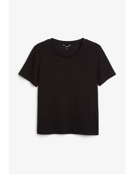 Flowy Ribbed Top by Monki