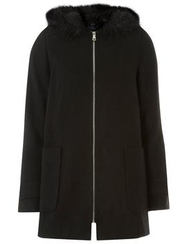 Black Hooded Duffle Coat by Dorothy Perkins
