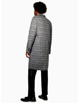 Grey Check Oversized Overcoat by Topman