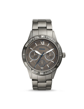 Flynn Sport Multifunction Smoke Stainless Steel Watch by Fossil