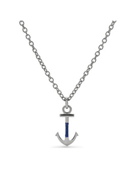 anchor-steel-necklace by fossil