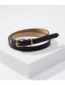 Leather Skinny Belt by Loft