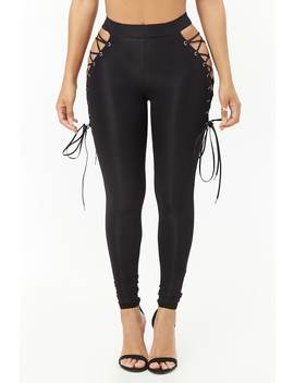Kikiriki Lace Up Leggings by Forever 21