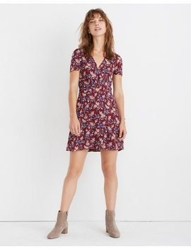 Wrap Front Mini Dress In Antique Flora by Madewell