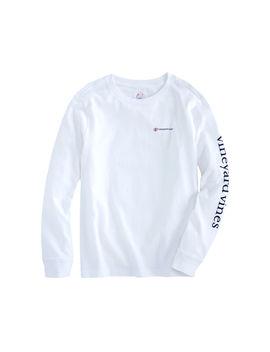 Boys Long Sleeve Breast Cancer Awareness Logo Pocket T Shirt by Vineyard Vines