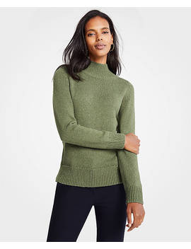 Marled Turtleneck Sweater by Ann Taylor