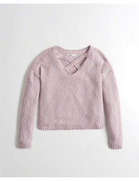 Cross Front Sweater by Hollister