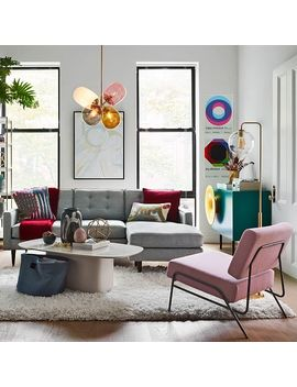 Sculptural Glass Globe Floor Lamp by West Elm