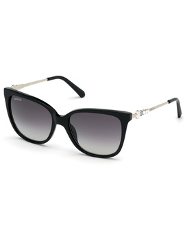 Swarovski Sunglasses, Sk0189 01 B, Black by Swarovski