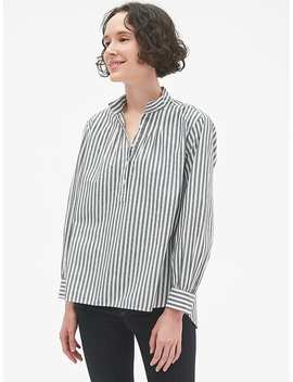 Stripe Shirred Popover Shirt by Gap