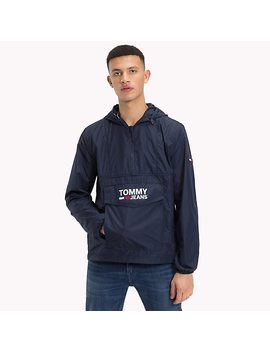 Logo Pocket Hooded Anorak by Tommy Hilfiger