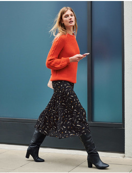 Frome Midi Skirt by Boden