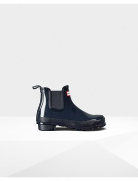 "<Span Itemprop=""Name"">Women's Original Gloss Chelsea Boots</Span>:                     <Span>Navy</Span> by Hunter"