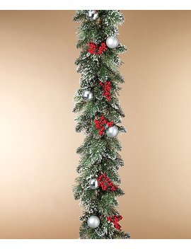 6' Glitter Snow Garland by The Gerson Company