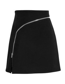 Curved Zip Detail Mini Skirt by Alexander Wang