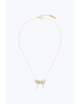 Twisted Bow Pendant Necklace by Marc Jacobs