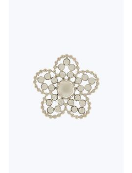 Small Ball Chain Strass Daisy Pin by Marc Jacobs
