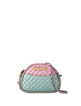 Mini Quilted Metallic Leather Crossbody Bag by Gucci
