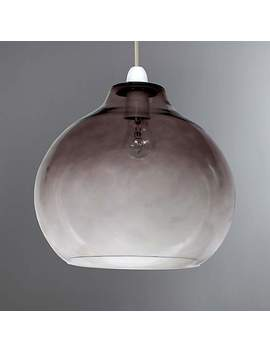 Smoke Glass Ombre Easy Fit Pendant by Dunelm