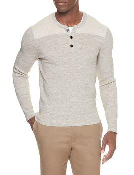 Contrast Yoke Henley Sweater by Banana Republic Factory