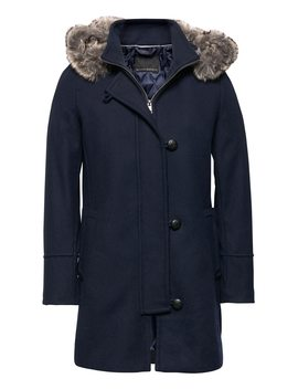 Italian Melton Wool Blend Parka by Banana Repbulic