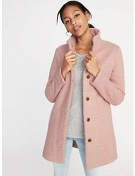 Mock Neck Bouclé Coat For Women by Old Navy