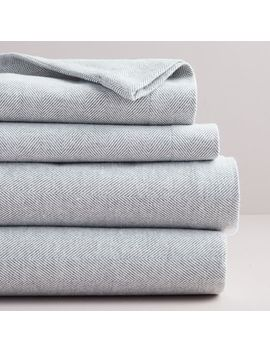 Flannel Herringbone Sheet Set by West Elm