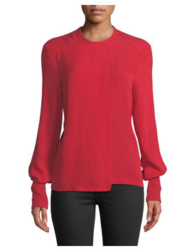 Flap Front Crepe Georgette Top by Yigal Azrouel