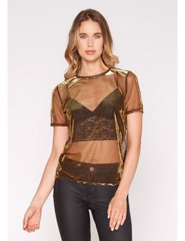 Rachel Mesh Top by Alloy