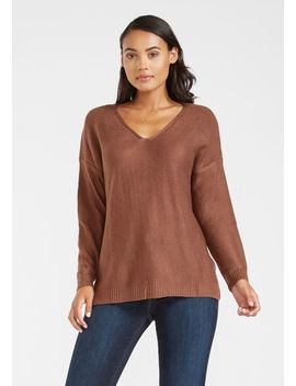 Tall Long Sleeve Light V Neck Sweater by Alloy