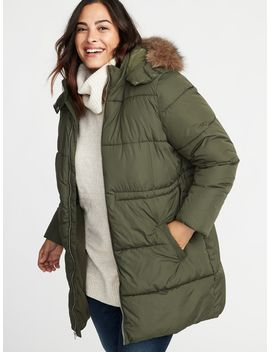 Plus Size Hooded Frost Free Long Line Jacket by Old Navy