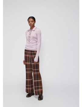 High Waist Plaid Trouser by Acne Studios