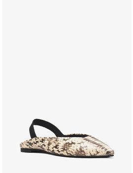 Eliza Snake Embossed Leather Flat by Michael Michael Kors