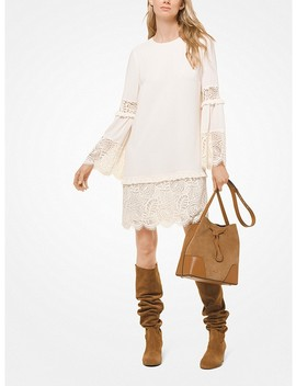 Lace Trimmed Bell Sleeve Dress by Michael Michael Kors