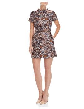 Paisley Jacquard Dress by Maje