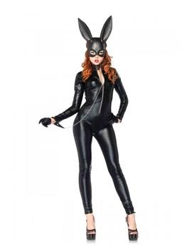 Black Masquerade Rabbit Mask by Ami Clubwear