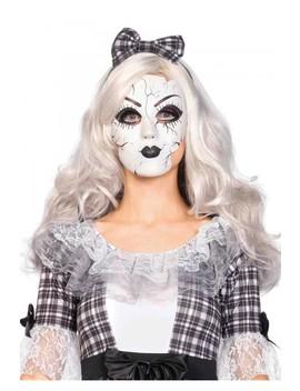 White Porcelain Doll Mask by Ami Clubwear