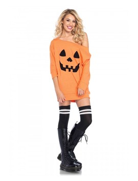 Orange Jersey Pumpkin Dress by Ami Clubwear