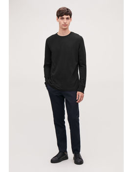 Basic Long Sleeved T Shirt by Cos